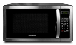 Farberware black and silvermicrowave oven