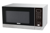 RCA white and black microwave oven