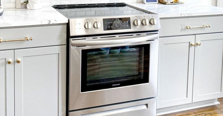 silver oven in the kitchen