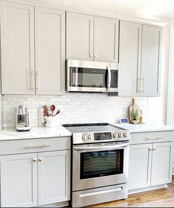 microwave above stove