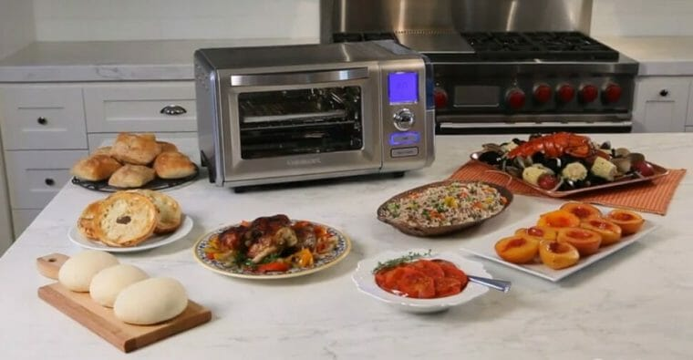oven with food
