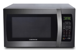 black microwave oven by Faberware
